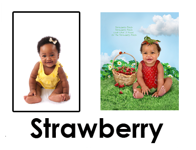 Strawberry Patch Baby Photo